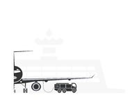 Refueling samolot Obrazy Stock