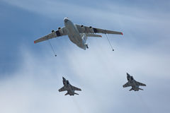 Refueling in the sky Stock Photos