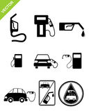 Refueling station icons Royalty Free Stock Images