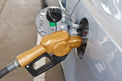 Refueling vehicles Royalty Free Stock Photography