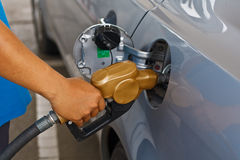 Refueling vehicles Stock Images
