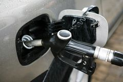 Refuelling by gasoline Stock Photos
