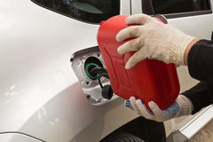 Refuelling of petrol Stock Photo