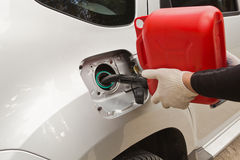 Refuelling of petrol Stock Images