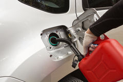 Refuelling of petrol Royalty Free Stock Image