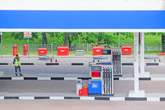 Refuelling station Royalty Free Stock Images