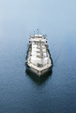 Refuelling tanker for ship and boat. Top view Royalty Free Stock Image