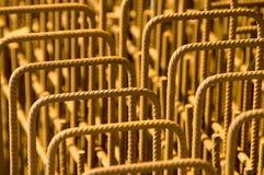 Refuerzo de acero Fotografía de archivo