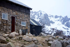 A refuge in the Andes of Argentina. Royalty Free Stock Photo