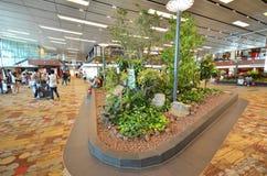 Refuge avant l'embarquement dans l'aéroport de Changi Image stock