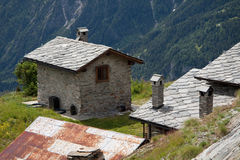 Refuge Bertone - Courmayeur Stock Photography