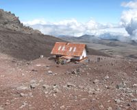 Refuge in Chimborazo National Park  - Ecuador Royalty Free Stock Image