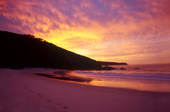 Refuge Cove. Sunrise over Refuge Cove at Wilsons Promontory National Park in Victoria, Australia Stock Image