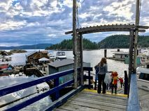Refuge Cove, Desolation Sound, Canada - July 5th, 2018: A young royalty free stock photos