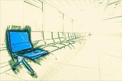 Refuge d'aéroport Images stock
