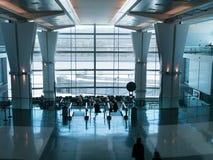 Refuge d'aéroport aux portes Image libre de droits