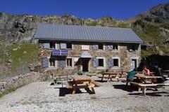 Refuge de La Pra in Belledonne mountain range. Stock Image