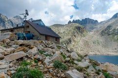 Refuge de montagne Images libres de droits