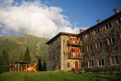 Refuge de montagne en Roumanie Image libre de droits