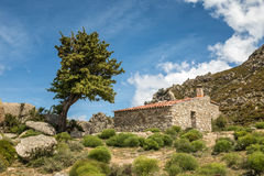 Refuge de Prunincu on route to Monte Astu in Corsica Stock Photography