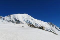 Refuge de Tete Rousse on Mont Blanc hiking route Royalty Free Stock Photos