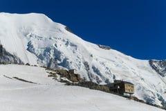 Refuge de Tete Rousse on Montblanc, Chamonix Stock Image