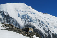 Refuge de Tete Rousse on Montblanc hiking route Stock Images