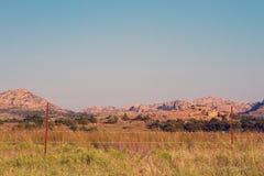 Refuge de Wildife de montagnes de Wichita Images libres de droits