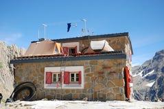 Refuge des Sarradets in the cirque de Gavarnie. Royalty Free Stock Images
