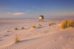 Refuge hut on Terschelling island in The Netherlands royalty free stock photos