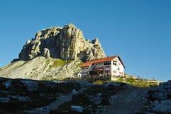 Refuge Locatelli and Sasso Di Sesto, a popular hiking destinatio Stock Photography