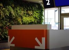 Refuge moderne de porte de départ d'aéroport avec le nombre de porte Image stock