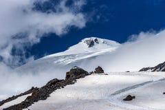 Refuge of the 11 on the Mount Elbrus. Caucasus, Russian Federation. Refuge of the 11 on the Mount Elbrus, the highest peak of Europe. Caucasus, Russian stock photography