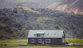 Refuge in the mountain, Landmannalaugar, Iceland Royalty Free Stock Photography