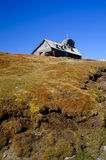 Refuge on mountain peak in romania Stock Photos