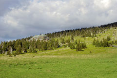 Refuge in mountains. Refuge in Giant Mountains, Poland Stock Photos