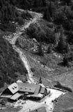 Refuge in mountains. Refuge in Karkonosze mountains, Poland Royalty Free Stock Photo