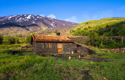 Refuge in the mountains - Mount Etna Royalty Free Stock Images