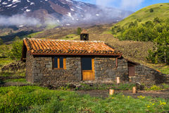 Refuge in the mountains - Mount Etna Stock Photo
