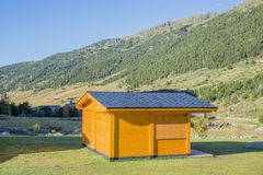 Refuge in the mountains. Surrounded by mountains Royalty Free Stock Image