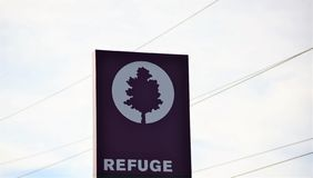 Refuge set aside for Wildlife Conservation. Refuge is an area of swampy bottomland consisting of a portion of the floodplain of a River, it is set aside to allow stock photo