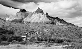 Refuge, Torres Del Paine Landscape Stock Photos