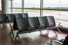 Refuge vide de terminal d'aéroport Images libres de droits