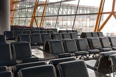 Refuge vide de terminal d'aéroport Photo libre de droits