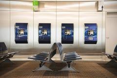 Refuge vide de terminal d'aéroport avec des chaises dans l'airpor d'Athènes Photo libre de droits