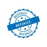 Refugee stamp illustration Stock Photo