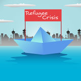 Refugee boat Royalty Free Stock Image