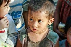 Refugee boy. Karen boy in Refugee camp Sangklaburi Kanchanaburi Thailand Stock Photography