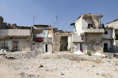Refugee Camp. Buildings in a Palestinian refugee camp in Syria Royalty Free Stock Photography