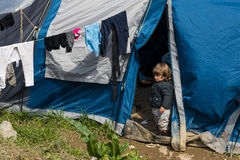 Refugee camp in Greece Royalty Free Stock Photos